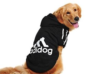 Gently USED SEE picture  Trudz PET large Dog Hoodies  Rdc Pet Apparel  Fleece Basic Hoodie Sweater  Cotton Jacket Sweat Shirt Coat from 3Xl to 9Xl for large Dog  Pink  4Xl