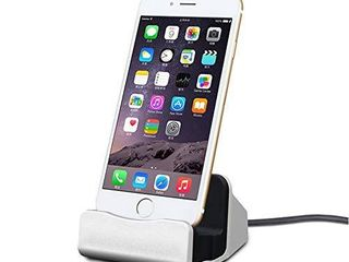 iPhone Charging Dock Station  Bebetter 8 pin Charging Dock Compatible with Apple iPhone 8  iPhone X  iPhone 7 7 Plus 6 6S Plus 5 5S Retail Packaging  Silver
