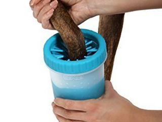 Dexas MudBuster Portable Dog Paw Cleaner  large  Blue  PW720312