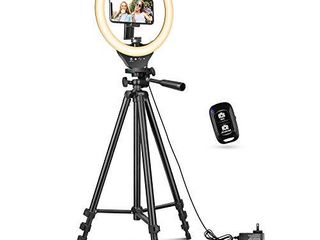 10  Ring light with 50  Extendable Tripod Stand  Sensyne lED Circle lights with Phone Holder for live Stream Makeup YouTube Video TikTok  Compatible with All Phones