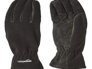 AmazonBasics Cold Proof Thermal Winter Work Gloves  Black  l