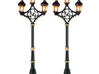 Department 56 Accessories for Villages Fifty Six Street lights Accessory Figurine  Set of 2