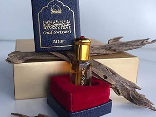 Attar Oud Swisseri  Pure Perfume Oil 6ml by DUKHNI   It contains key notes of rare Oud Wood  Chinese Pepper  and a mild Vanilla  Alcohol Free   Pure   for Men and Women   by Dukhni Artisnal Attars