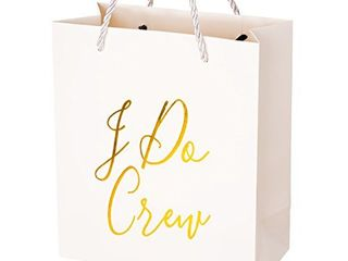 Crisky Bridesmaid Gift Bags  loot Bag  Bachelorette Party Bag  Hen Party Bag  Bridal Shower  Team Bride  Set of 12  4  x 8  x 9