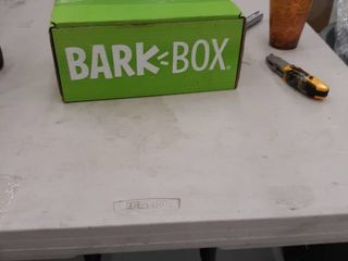 Bark Box   Included Squeaky Toys  Treats  Fake Antlers  See Pics For Details
