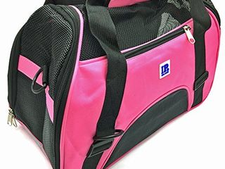 IrisPets Pet Airline Travel Approved Airport Pet Carrier  Soft Sided Portable Folding Under Seat Air Travel Pet Carriers Bag for Small Puppy Cats Small Animals   Pink