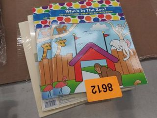 2  who s in the zoo activity books and 2 packages of cardstock