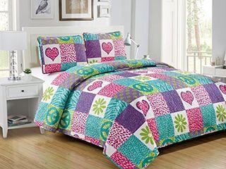 Mk Collection Sheet Set Pink Purple Teal Zebra leopard Heart Peace Sign Teens Girls Zebra Flower New  Twin