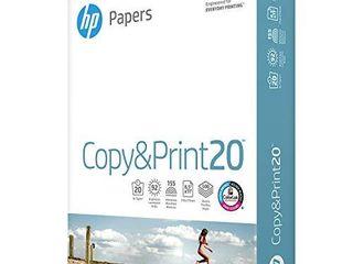 1 HP Printer Paper 8 5x11 Copy Print 20 lb 1 Ream 500 Sheets 92 Bright Made in USA FSC Certified Copy Paper HP Compatible 200060