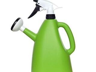 THE SAFETY ZONEY 2 in 1 Watering Can with Sprayer Water Spray Bottle Watering Pot Water Trigger Garden Accessory Sprayers Multifunction Watering Can   1000Ml  Green