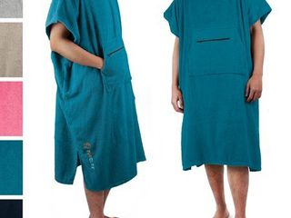 SUN CUBE Surf Poncho Changing Robe with Hood Terry Cotton Changing Towel