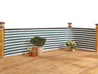 IdeaWorks New Deck   Fence Privacy Durable Waterproof Netting Screen with Grommets and Reinforced Seams  Green
