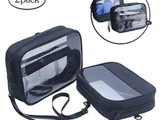 1 Clear Travel Toiletry Bag Chomeiu Men s Clear Dopp Kit TSA liquids Bag Small  Black