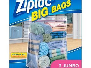 1 Ziploc Big Bags  Jumbo  3 count