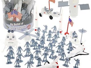 Space And Astronaut Toy Action Figures   Big Bucket Of Astronauts   Huge 60 Pc S