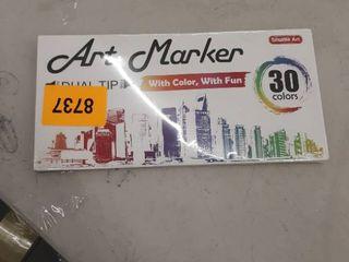Shuttle Art Marker Pen Marker Set   Oily Art Marker   30 Colors   Waterproof