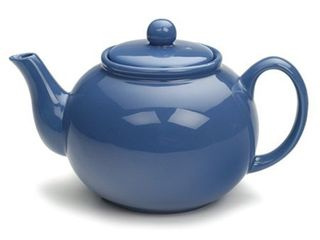 Stoneware Chai Teapot  Holds 6 Cups  Blue