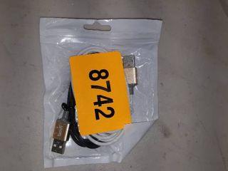 2  lightning USB Cables  White   Black