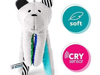 Whisbear The Humming Bear Sleep Soother  Sensory Toy for Babies  Helps Babies Fall Asleep with a Calming Sound  reacts to Babiesa Crying  Safe Teddy Bear  Turquoise