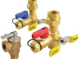 Webstone 44443WPR 3 4 Inch IPS Isolator EXP E2 Tankless Water Heater Service Valve Kit with Clean Brass Construction