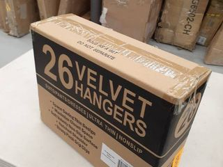 Premium Quality Velvet Clip Hangers Set Of 26 Ultra Thin No Slip Hangers