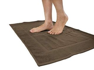 Cotton   Calm Exquisitely Plush Bath Mats Set  Chocolate Dark Brown  2 Pack  20 x 34 inches    Super Absorbent 100  Combed Cotton Bath Mat for Bathroom Floors