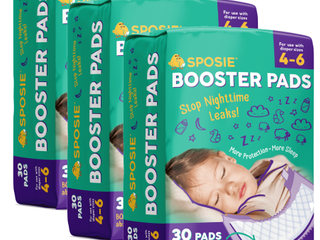Sposie Booster Pads For Overnight Diaper leak Protection   90ct