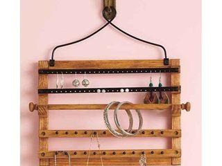 Wooden Bohemian Design Jewelry Hooks Storage Hanging Organizer  Space Saver