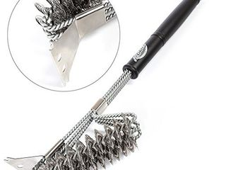 Grill Brush and Scraper a Grill Brush a BBQ Brush a Barbecue Cleaner a Safe Bristle Free BBQ Grill Brush for Porcelain Propane Electric Infrared Stainless Steel Gas Iron Charcoal and Weber Grills