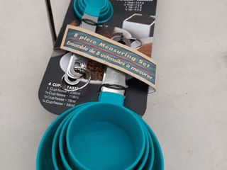Measuring Cups And Spoons liquid Dry Measure Stackable Nesting Stainless Steel