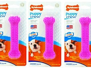 Nylabone  3 Pack  Just for Puppies Petite Pink Dental Bone Chew Toy