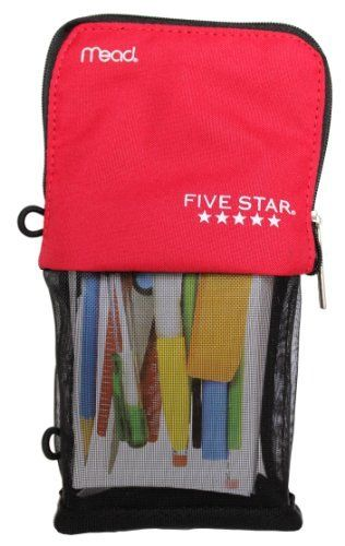 Mead Five Star Stand and Store Self Standing Pencil Pouch  Colors May Vary