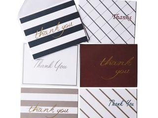 Oaklyn  48 pack  Thank You Cards Set with Envelopes