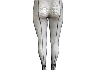 Killer legs Plus Size Fishnet Pantyhose Back Seam with Bow Tie 168YD022Q Queen Black Yelete