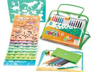Drawing Stencils and Colored Pencils Arts and Crafts