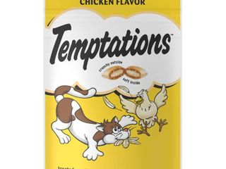 TEMPTATIONS Classic Crunchy and Soft Cat Treats Tasty Chicken Flavor  3 oz  Pouch