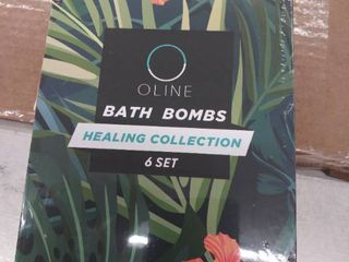 Oline  6 Assorted Bath Bombs Healing Collection individually Wrapped Exp 01 2022