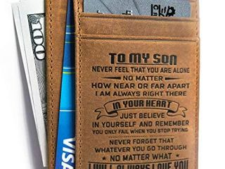 memory gift   Minimalist Wallets for son from Dad  Front Pocket Wallet