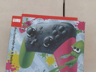 Pro Controller For N Switch Pink Green