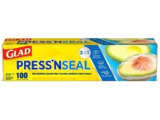 2 Glad Press N Seal   Plastic Food Wrap   100 sq ft