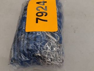Mifflin Vertical Id Name Badge Holder With Woven lanyard  royal Blue Non break