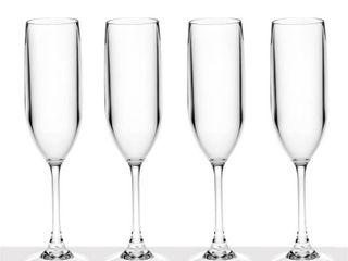 6 Ounce Tritan Unbreakable Champagne Flutes