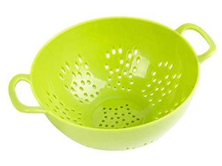 Culinary Elements 6 inch Mini Colander with Double Handles and Deep Bowl  Green  1 pack