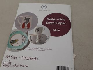 Hayes Paper  Waterslide Decal Paper Inkjet White 20 Sheets Premium