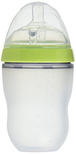 Comotomo   Soft Hygienic Silicone Baby Bottle Twin Pack 3m  Green   8 oz