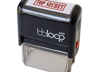 BBloop Stamp TOP Secret  Self Inking  Rectangular  laser Engraved  RED