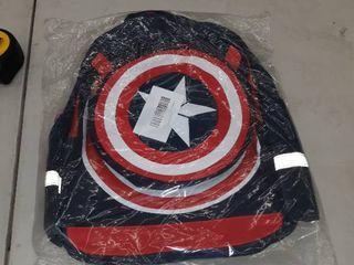 Captain America School Bag For Kids  Red   Navy Blue