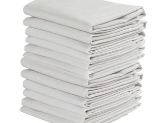 White Flour Sack Dish Kitchen Towels Thin Pure Cotton Drying Glass12pack 20 x30