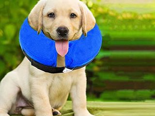 E KOMG Protective Inflatable Collar for Dogsi1 4Pet Recovery Collar Cone for Cat After Surgery Does Not Block Vision E Collar  Medium