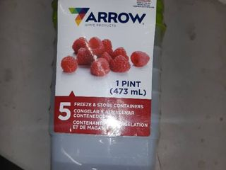 Arrow Plastic 00042 Stor Keeper Freezer Food Storage Container 5 containers with lids